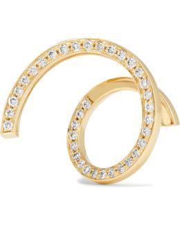 Athene D'or 18-karat Gold Diamond Earring