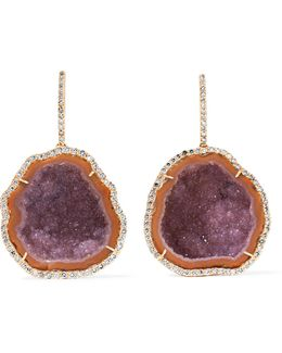 18-karat Rose Gold, Diamond And Geode Earrings