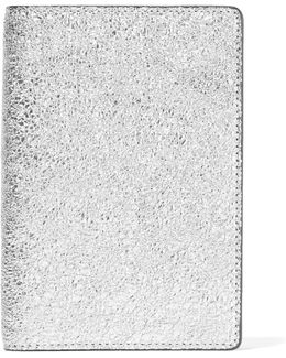 Metallic Textured-leather Passport Cover