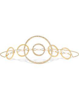 Virtuose 18-karat Gold, Sapphire, Pearl And Diamond Choker