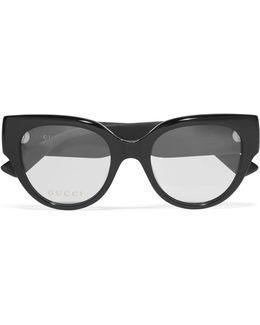 Cat-eye Glittered Acetate Optical Glasses
