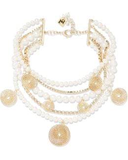 Armonia Freshwater Pearl Gold-tone Necklace