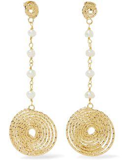 Armonia Gold-tone Pearl Earrings