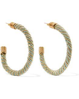 Incontro Gold-tone Cord Hoop Earrings