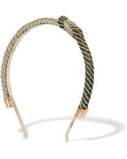 Incontro Cord And Gold-tone Headband