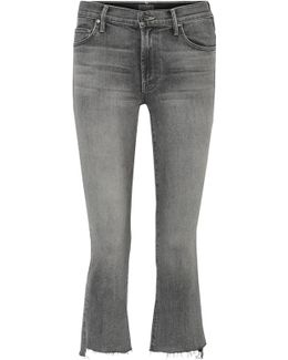 The Insider Crop Mid-rise Flared Jeans