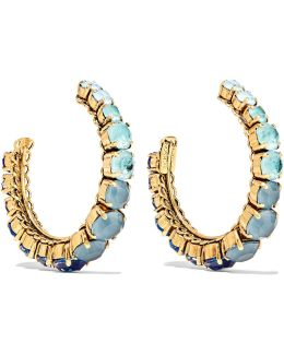 Rhapsody Gold-tone Crystal Hoop Earrings