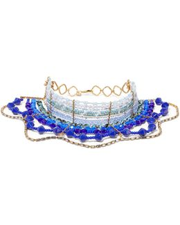 Rhapsody Beaded Gold-tone Choker