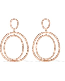 Again Double 18-karat Rose Gold Diamond Earrings