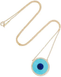 Evil Eye 18-karat Gold Multi-stone Necklace