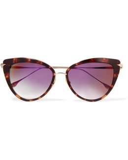 Heartbreaker Cat-eye Acetate And Gold-tone Sunglasses