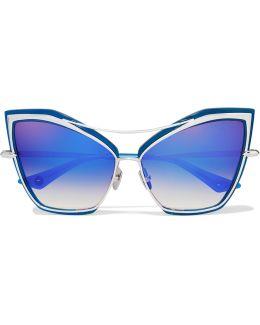 Creature Cat-eye Metal Mirrored Sunglasses