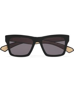 Insider-two D-frame Acetate Sunglasses