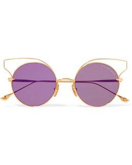 Believer Round-frame Gold-tone Sunglasses