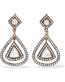 14-karat Gold, Sterling Silver And Diamond Earrings