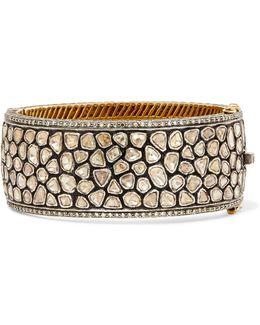 14-karat Gold, Sterling Silver And Diamond Bracelet