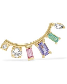 10-karat Gold Multi-stone Earring