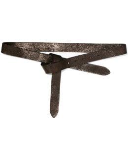 Glittered Leather Belt
