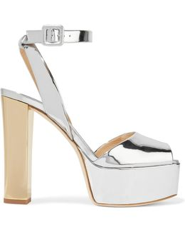 Mirrored-leather Platform Sandals