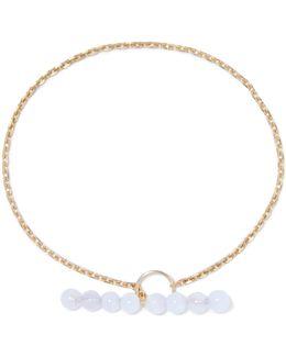 Barbelle Sky Gold-plated Chalcedony Bracelet
