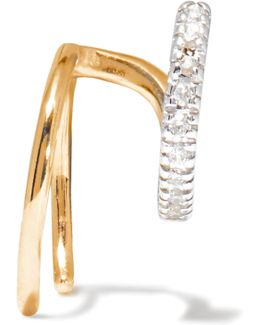 Manon Blanc 14-karat Gold Diamond Earring
