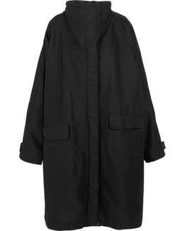 Oversized Canvas Raincoat