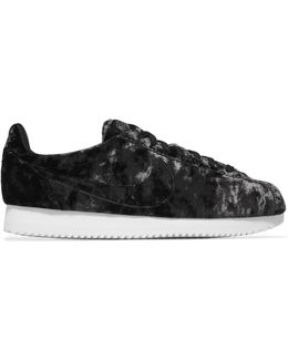 Classic Cortez Crushed-velvet Sneakers