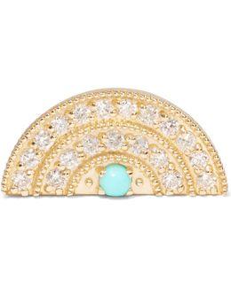 18-karat Gold, Diamond And Turquoise Earring