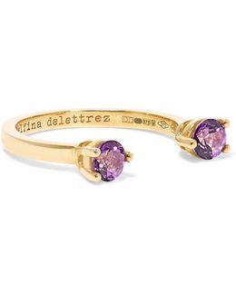 9-karat Gold Topaz Phalanx Ring