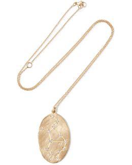 Virgo 14-karat Gold Diamond Necklace