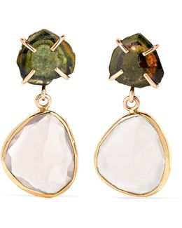 14-karat Gold, Tourmaline And Quartz Earrings