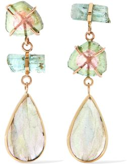 14-karat Yellow And Rose Gold Multi-stone Earrings