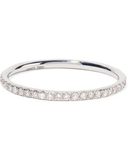 Thread 18-karat White Gold Diamond Eternity Ring
