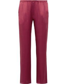 Silk-satin Pajama Pants