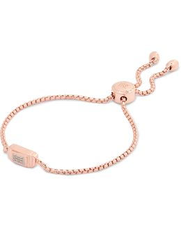 Baja Deco Rose Gold Vermeil Diamond Bracelet