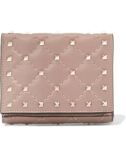 Rockstud Spike Quilted Leather Wallet