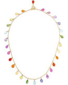 22-karat Gold Multi-stone Necklace