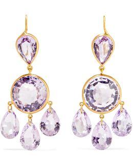 18-karat Gold Amethyst Earrings
