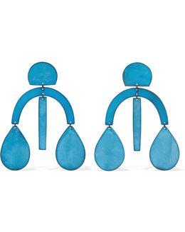 Arc Oxidized Earrings