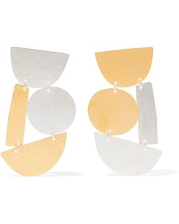 Masha Gold And Silver-tone Earrings