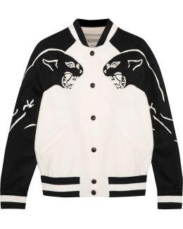 Appliquéd Wool And Cashmere-blend Bomber Jacket