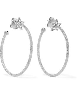 Shooting Star 18-karat White Gold Diamond Earrings