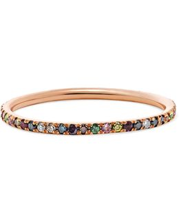 Thread 18-karat Rose Gold Multi-stone Ring