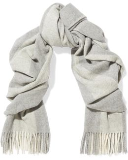 Canada Bengal Fringed Striped Wool Scarf