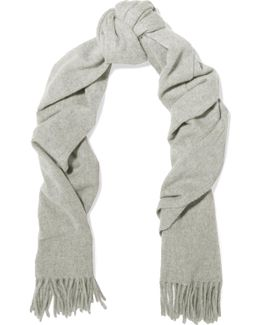 Canada Narrow Fringed Wool Scarf