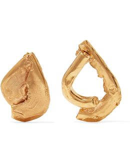 Warrior Gold-plated Earrings