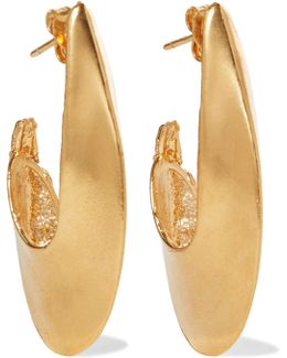 Il Leone 2.0 Gold-plated Hoop Earrings