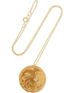 Il Leone Medallion Gold-plated Necklace