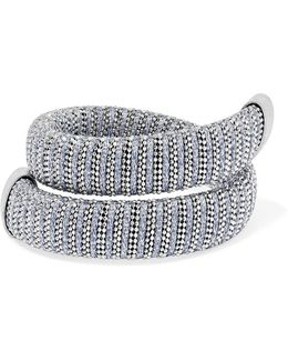 Caro White Gold-plated And Lurex Bracelet