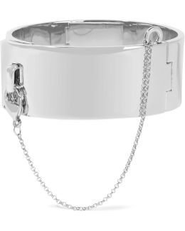 Safety Chain Rhodium-plated Bracelet